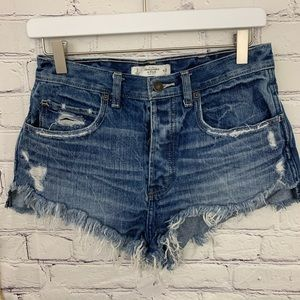 Abercrombie and Fitch distressed cut off shorts